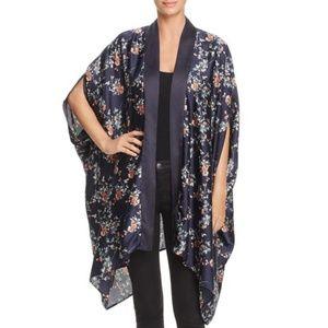 Re: named NWT Navy Floral Print Open Front Kimono